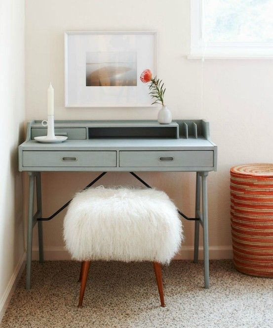 use Ikea rug and a few staples for a stool cover....so easy!