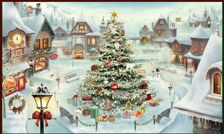 A Jacquie Lawson virtual Christmas puzzle picture.