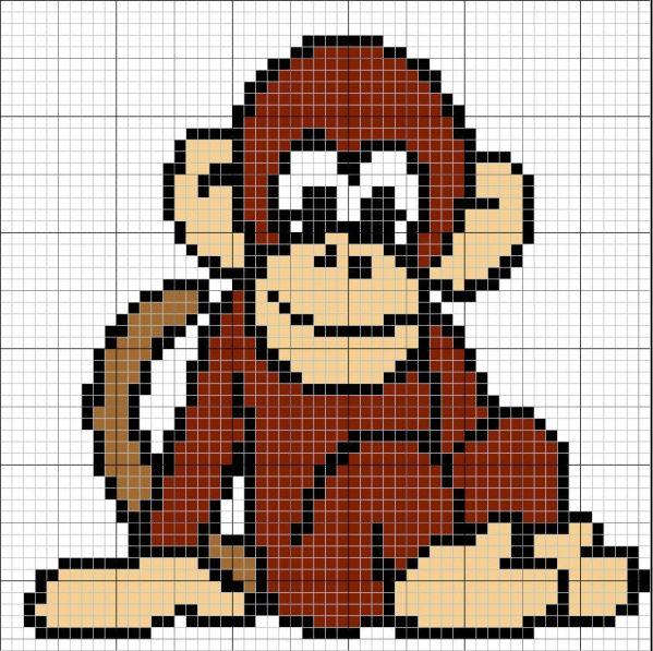 Monkey intarsia sweater pattern