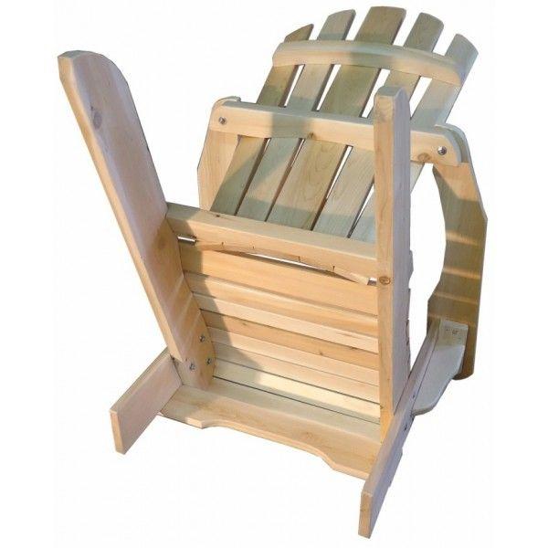 fauteuil adirondack sans repose-pieds fauteuil fixe bois cedre blanc                                                                                                                                                                                 Plus