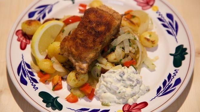 Claresse-schnitzel met dragon-aardappels - recept   24Kitchen