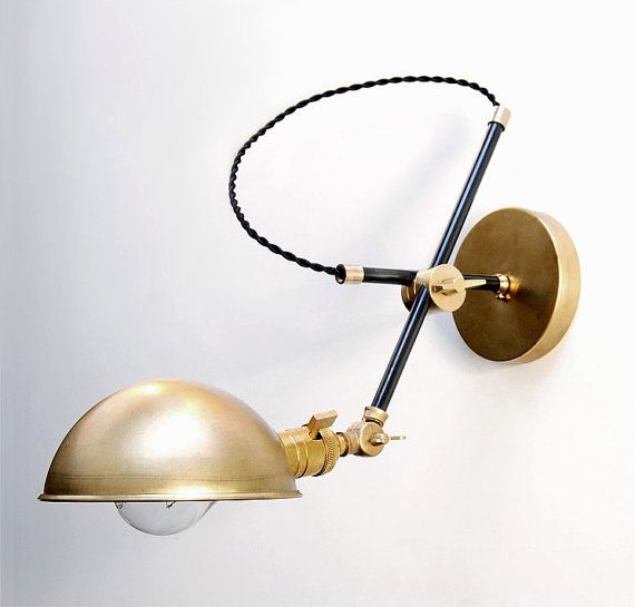 """Wall Lamp - Sconce -  Bedside Lamp - Adjustable Extension Boom Light - Articulating Industrial  Scissor Lamp -  the """"Bonwit"""""""