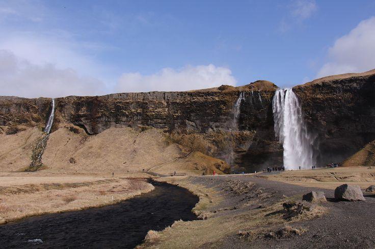 Mettons les choses au clair : il y a des chutes partout en Islande. Il y a les plues connues, comme celle-ci (Selandjafoss), mais il y en a aussi partout le long des montagnes que vous croiserez plus que fréquemment. Il y a des petites cascades partout également. Si vous préférez les chutes plus « sauvages », ne visitez pas celles identifiées dans votre guide touristiques : avec l'augmentation du tourisme en Islande, on trouve maintenant un kiosque à t-shirts à Selandjafoss!