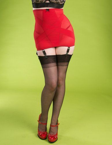 Stockings and Romance Red Illusion Girdle Stockings and Romance. $65.00