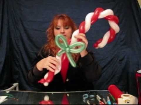 Christmas Candy Cane| How to Make Balloon Animals | St. Charles Balloon Artist | Chicago Balloon