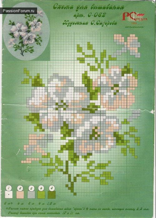 flori / Schema Cross Stitch / PassionForum - Cursuri de masterat manuală în