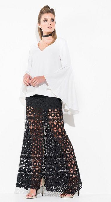 Mossman The Misdemeanour Black Lace Skirt