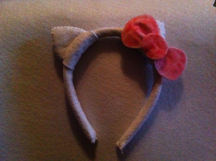 My handmade Hello Kitty ears and bow.