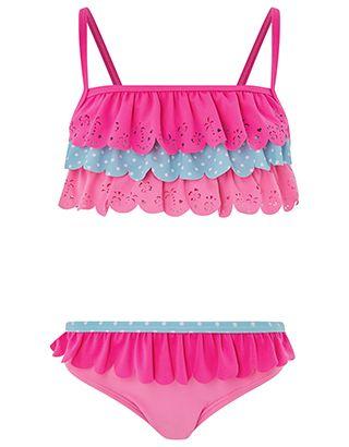 Accessorize | Fiona Flamingo Printed Bikini | Multi | 5-6 Years | 4830469925