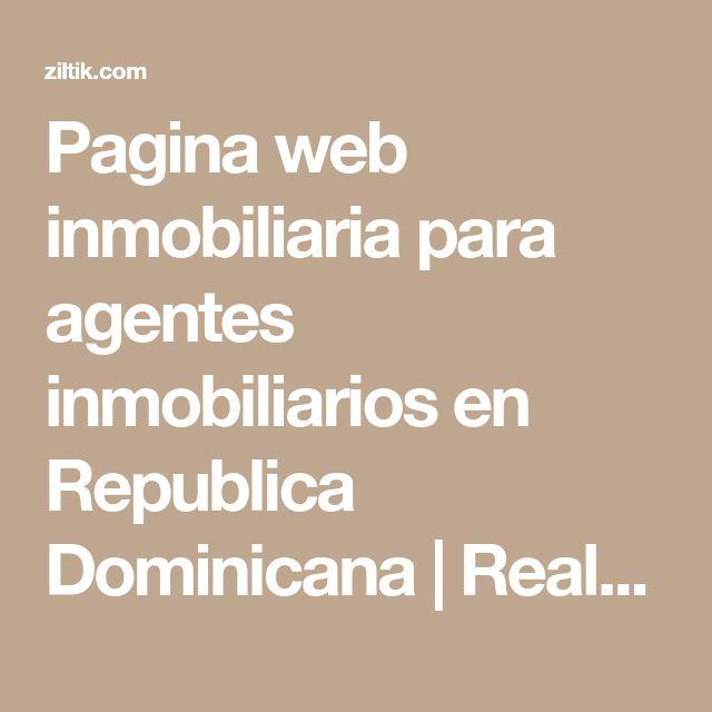 Pagina web inmobiliaria para agentes inmobiliarios en Republica Dominicana | Realtor Pro
