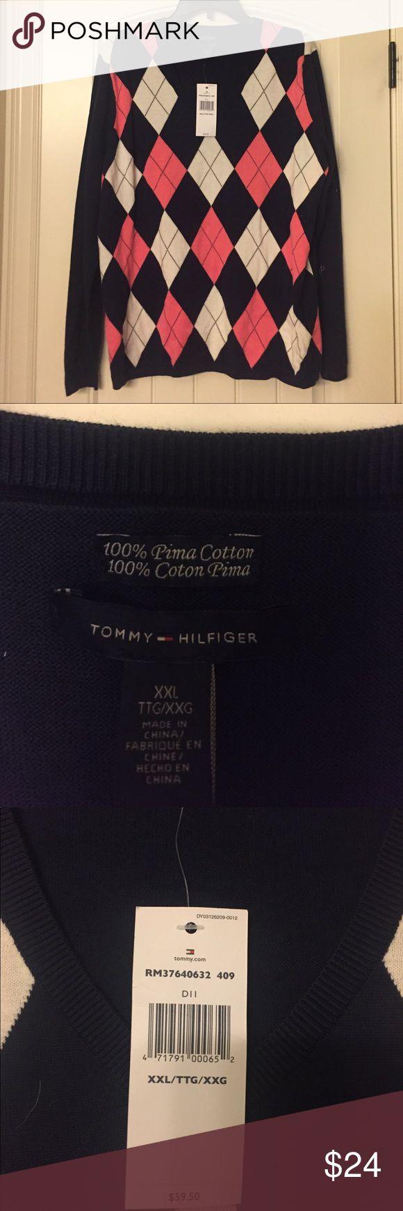 NWT Tommy Hilfiger v neck Argyle sweater NWT Tommy Hilfiger v neck Argyle sweater Tommy Hilfiger Sweaters V-Necks