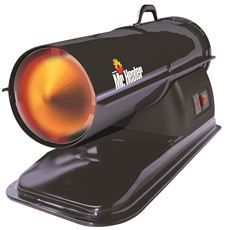 Mr Heater Forced Air Propane Heater, Quiet Burn Technology Blower, 125K-170K Btu, Heats 4,000 Square Feet, Black