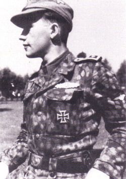 Hauptsturmführer Miervaldis Adamsons from 19th Waffen SS 2nd Latvian Division, pin by Paolo Marzioli