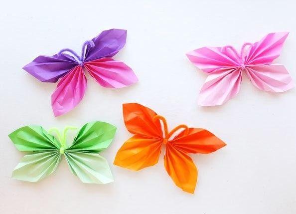 DIY Folded Paper Butterfly