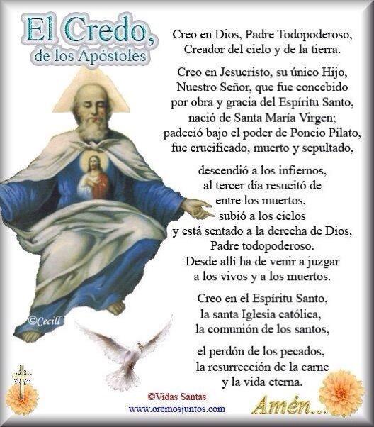 El Credo! Creo Señor, pero aumenta mi fe.