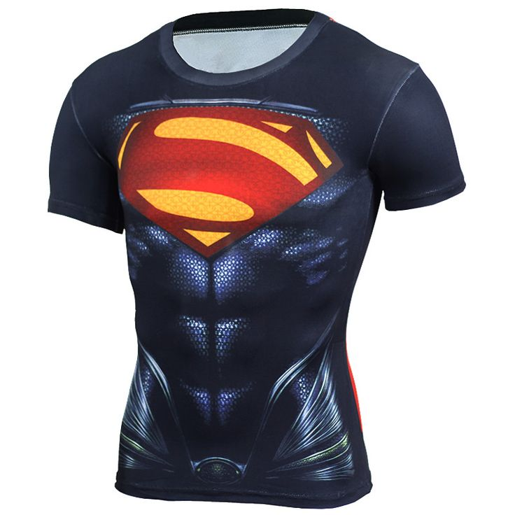 New 2017 3D Compression Shirt Fitness Men Superhero Comics Superman Quick Dry Tights Clothing Short Sleeve T Shirt