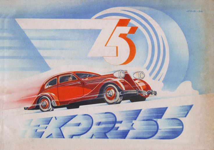 Z-5 EXPRESS (1936) Cover of a sales brochure for the carmaker Československá zbrojovka, a.s. Brno