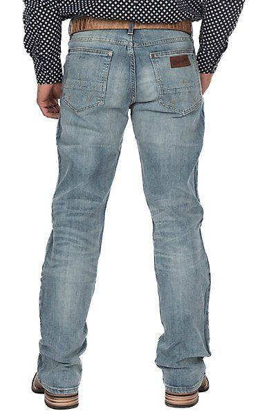 Wrangler Retro Men's Light Wash BearCreek Comfort Slim Boot Cut Jeans | Cavender's