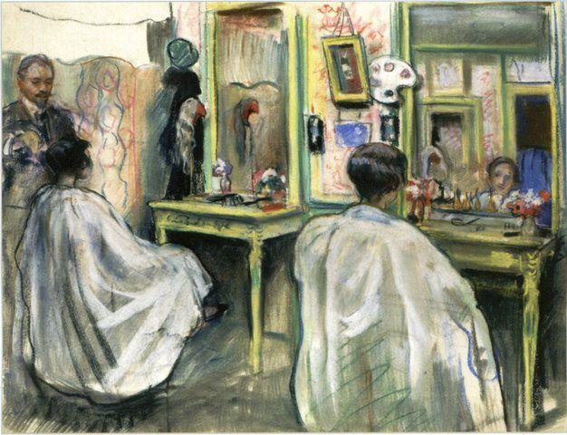 Zinaida Serebriakova - At a hairdresser (end 1920s)