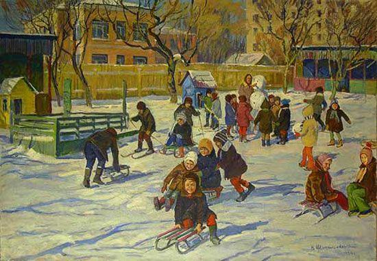 Шепетовский В. В детском саду (550x381, 77Kb)