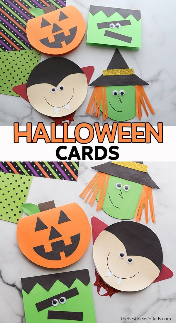 Handmade Halloween Cards With Free Templates The Best Ideas For Kids Halloween Cards Handmade Halloween Cards Halloween Cards Diy