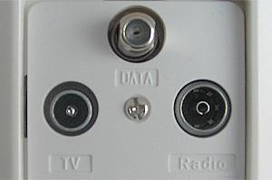 Fernsehen, Radio, Internet – mit einer zusätzlichen Buchse wird der Kabel-Anschluss zur Kommunikations-Zentrale