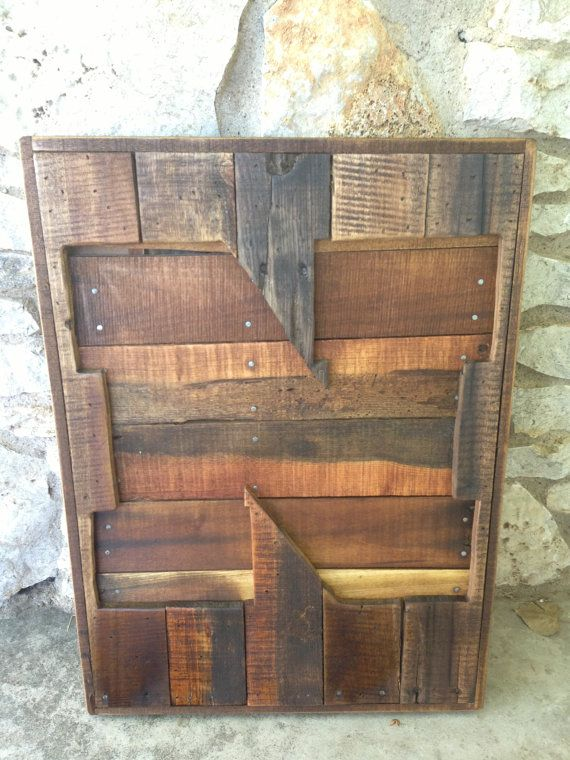 Recycled Pallet Nebraska Husker 'N' by RusticRestyle on Etsy, $60.00 for the upstairs