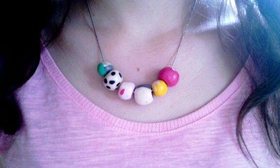 Rainbow necklace FIMO (I)