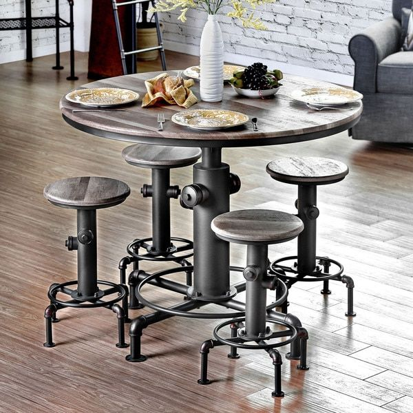 Furniture Of America Protector Hydrant Inspired Metal Counter Height Round  Table This Fire Hydrant Inspired