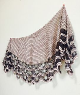 Striped Esjan shawl by Stephen West on Ravelry