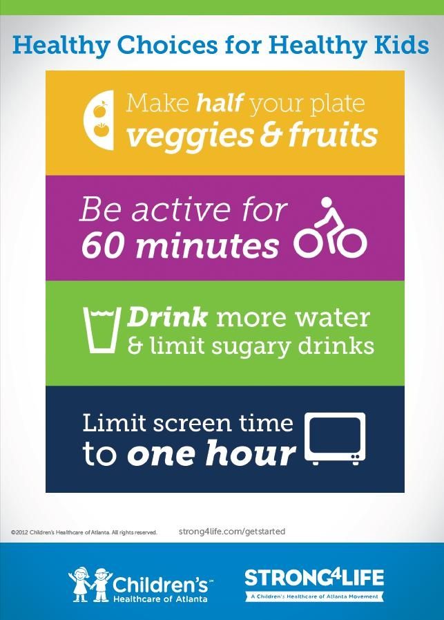Strong4Life Healthy Choices for Healthy Kids #childrensatl #Strong4Life