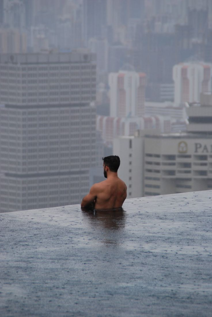 Singapore-This isn't Photoshopped.  It's a hotel with a pool balcony. (In case you haven't seen the hotel photo posted all over Pinterest.)
