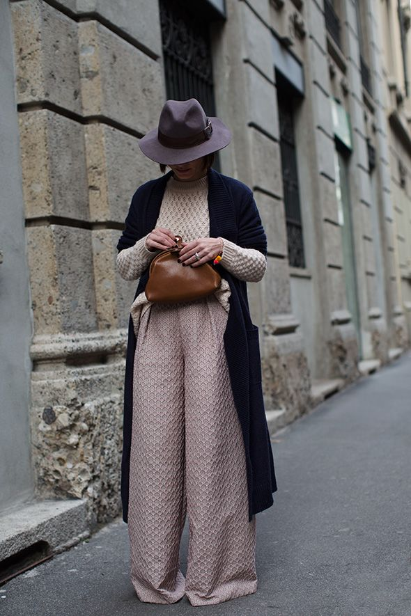 Cosy knits, warm hats and oversized pants. Hands up who's ready for Autumn? ~ Red shoes No knickers