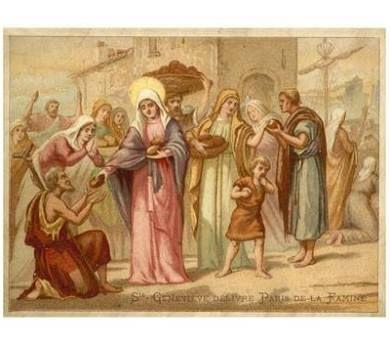 Giclee Print: St Genevieve Saving Paris from Famine, 465 : 24x18in