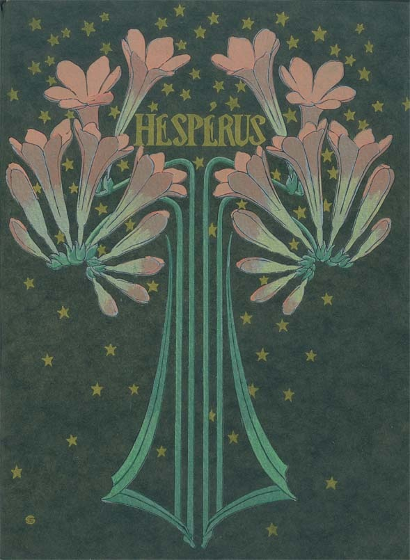 Hespérus contains beautiful prints by Carlos Schwabe, which makes the book one of the treasures of the Van Gogh Museum Library.