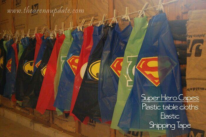 Super hero DIY capes