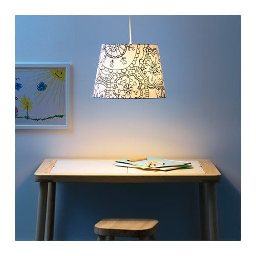 Jättendal Abat Jour Noirblanc 33 Cm Ikea Lamp Shades