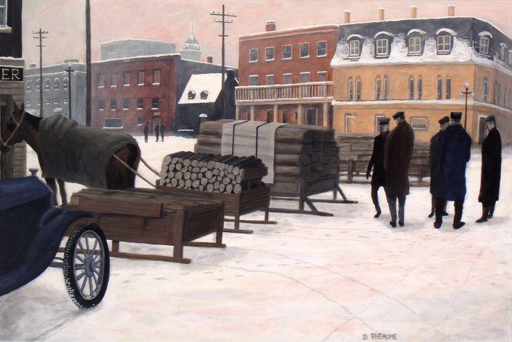 The Wood Market.  Ottawa circa 1920.    www.daverheaume.com