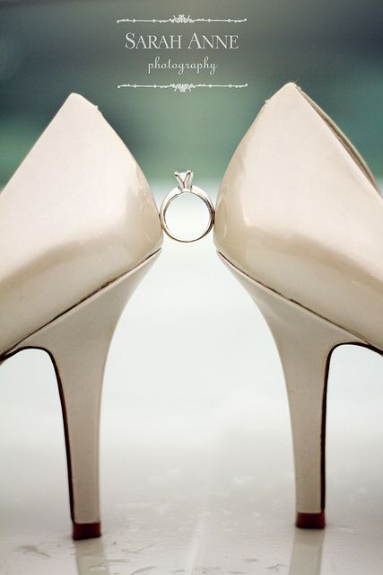 A very different type of ring shot! Everyone knows, shoes and diamonds are a girls best friend!! ;)
