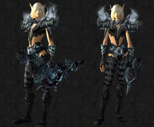 Mail / Armor usable by all  Head: [Streamslither Helm]  Shoulder: [Neckbreaker Shoulderguards]  Chest: [Black Dragonscale Breastplate]  Hands: [Gloves of Quickening]  Waist: [Earthgrasp Girdle]  Legs: [Savage Gladiator Leggings]  Feet: [Tundrastrider...