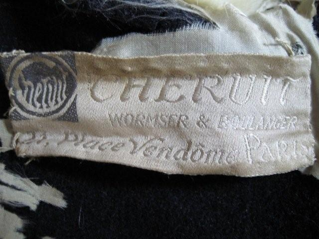 Chéruit label, post 1915?, Wormser & Boulanger: Poiret 18791944, Vionnet 18761975