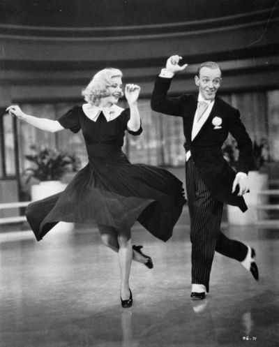 Fred Astaire and Ginger Rogers - I was brought up watching musicals like this. I only wish I learnt how to tap dance.