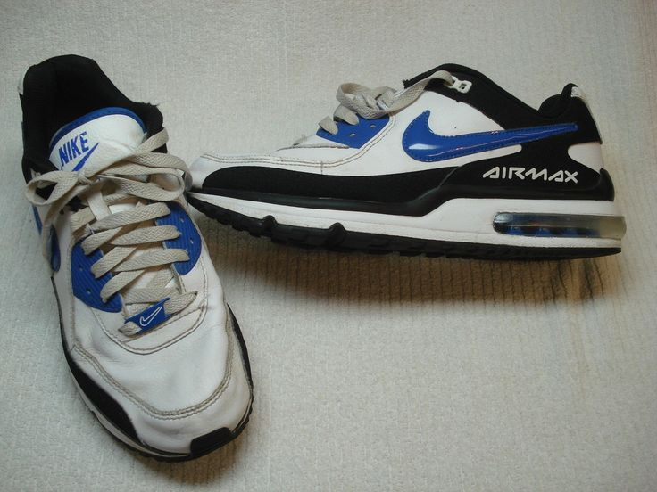 Mens Nike Air Max Wright  leather running  shoes size 10 blue white black