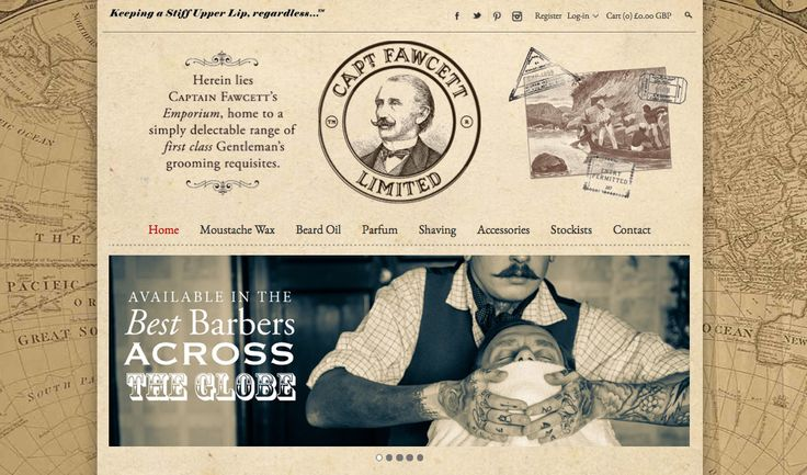 I say chaps, it's all a bit on the QT but I wonder whether you have clapped your eyes on http://www.captainfawcett.com  Splendid! Mums the word.
