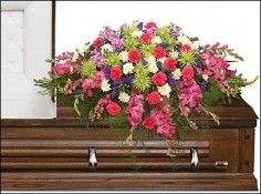 ETERNAL BEAUTY CASKET SPRAY Funeral Flowers | | Flower Shop Network