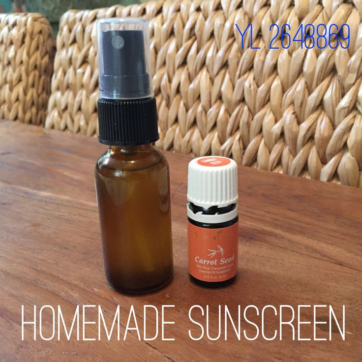 Since spring is finally here, I made some homemade sunscreen yesterday. Carrot seed oil is an amazing natural sunscreen! Recipe: in a 2 oz spray bottle, mix 25 drops carrot seed oil, 1 teaspoon Vitamin E oil, 2 teaspoons almond oil, then fill the rest of the bottle with Fractionated coconut oil. This recipe keeps me from damaging my skin and burning, but still allows me to get natural Vitamin D. I reapply this every 60-90 mins if I'm out in the direct the sun. sorayaessentialoils@gmail.com