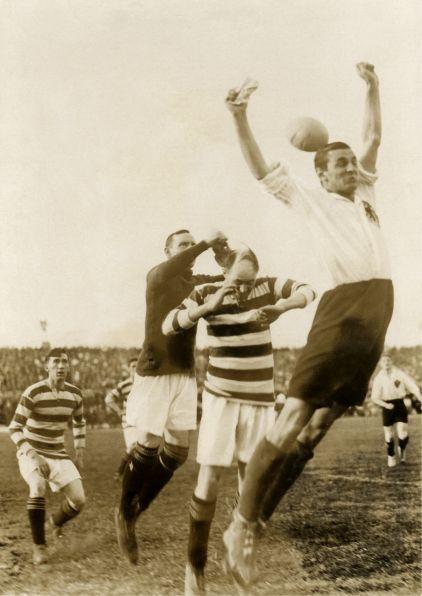 Fußballspiel, Deutschland gegen Schottland, 1922