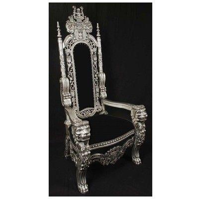 Harris Furniture, LK 1 SB, , Silver Black Lion King Throne