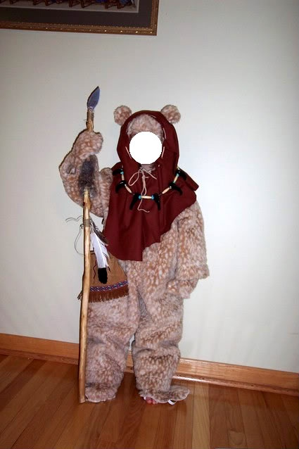 an example of homemade ewok costume costumes pinterest. Black Bedroom Furniture Sets. Home Design Ideas