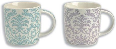Churchill Linda Barker Essence Mug Set China 2 Purple and 2 Blue Ref ESSE00031 [Pack 4]